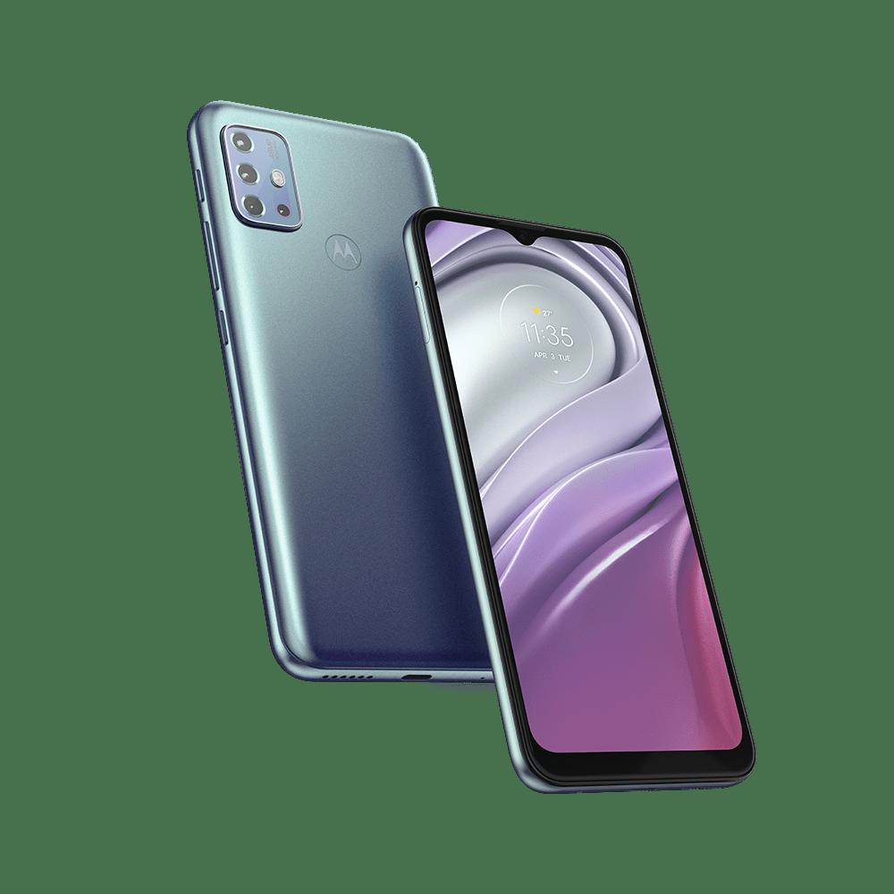 Smartphone-Moto-G20-64-GB-5000-mah-bateria-Imagem-Frontal-Curvada-Azul